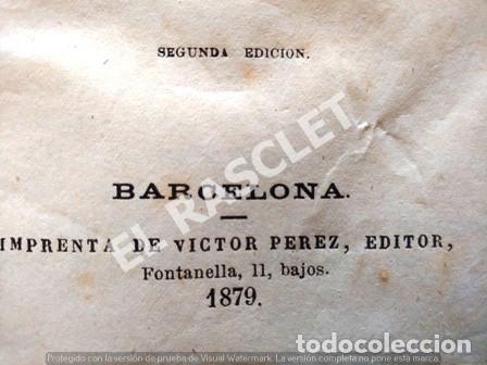 Libros antiguos: ANTIGUO LIBRO - AMOR DE MADRE - TOMO II - JOSE GIMENEZ SERRANO - AÑO 1879 - TAPAS DURAS - - Foto 3 - 252793030