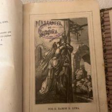 Libros antiguos: MARGARITA DE BORGOÑA, DOS TOMOS DEDICADA A LA MARQUESA DE VILLASECA Y DE LA ROSA, RAMÓN R. LUNA,1865. Lote 262445475