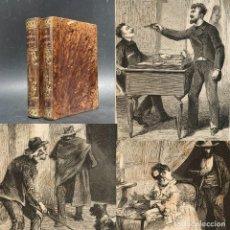 Livros antigos: 1876 - LA PROMESA SAGRADA - OBRA COMPLETA - PRIMERA EDICION PEREZ ESCRICH - BELLA ENCUADERNACION. Lote 274389608