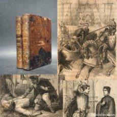 Livros antigos: 1858 - LAS DOS DIANAS - OBRA COMPLETA - A. DUMAS - NOVELA - MONTGOMERY - BELLA ENCUADERNACION. Lote 274389903