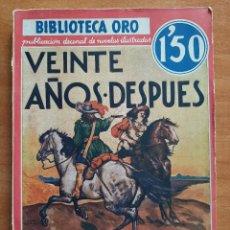 Libros antiguos: 1934 VEINTE AÑOS DESPUÉS - ALEJANDRO DUMAS / TOMOS I - II. Lote 275592783