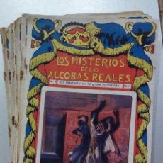 Libri antichi: LOTE DE 14 NOVELAS LOS MISTERIOS DE LAS ALCOBAS REALES. Lote 283713948