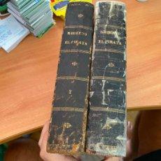 Livros antigos: ROBERTO EL PIRATA O EL NIETO DEL DIABLO (JULIAN CASTELLANOS VELASCO COMPLETA 2 TOMOS ILUSTRADA (LB53. Lote 284784528