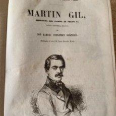 Livres anciens: MARTÍN GIL (MEMORIAS DEL TIEMPO DE FELIPE II) (CAJ 6). Lote 285458963