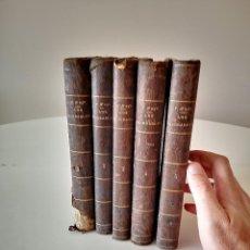 Libros antiguos: 1863 LOS MISERABLES DE VICTOR HUGO 5 TOMOS COMPLETA GASPAR I ROIG EDITORES LIBRO BUEN ESTADO. Lote 286820468