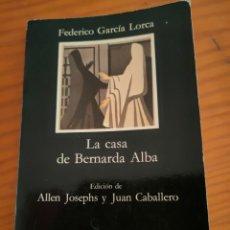 Livres anciens: LIBRO LA CASA DE BERNARDA ALBA. Lote 287543908