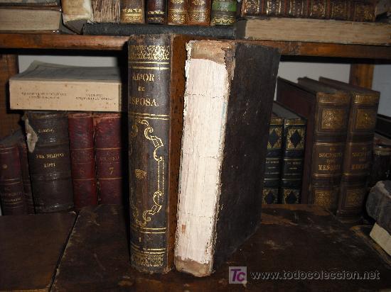 Libros antiguos: 1871 AMOR DE ESPOSA. ANTONIO DE PADUA. ESPASA HERMANOS. GRABADOS DE EUSEBIO PLANAS. 2 TOMOS - Foto 3 - 27090723