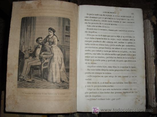 Libros antiguos: 1871 AMOR DE ESPOSA. ANTONIO DE PADUA. ESPASA HERMANOS. GRABADOS DE EUSEBIO PLANAS. 2 TOMOS - Foto 7 - 27090723