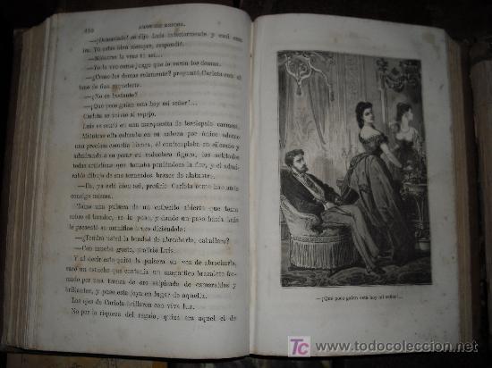 Libros antiguos: 1871 AMOR DE ESPOSA. ANTONIO DE PADUA. ESPASA HERMANOS. GRABADOS DE EUSEBIO PLANAS. 2 TOMOS - Foto 9 - 27090723