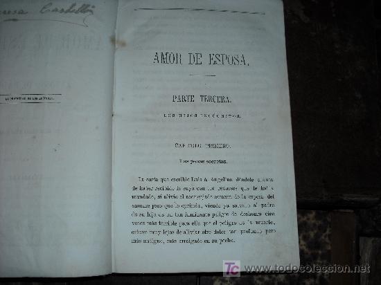 Libros antiguos: 1871 AMOR DE ESPOSA. ANTONIO DE PADUA. ESPASA HERMANOS. GRABADOS DE EUSEBIO PLANAS. 2 TOMOS - Foto 15 - 27090723
