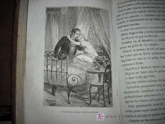 Libros antiguos: 1871 AMOR DE ESPOSA. ANTONIO DE PADUA. ESPASA HERMANOS. GRABADOS DE EUSEBIO PLANAS. 2 TOMOS - Foto 17 - 27090723