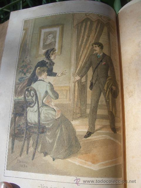Libros antiguos: ÁLVARO CARRILLO: MÁRTIR CRIMINAL Y ABSUELTA, TOMO I, 1890, 8 CROMOLITOGRAFÍAS DE EUSEBIO PLANAS - Foto 9 - 22322693