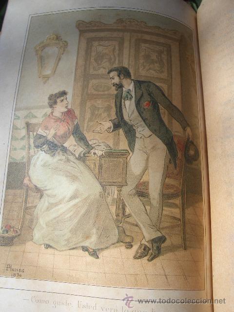 Libros antiguos: ÁLVARO CARRILLO: MÁRTIR CRIMINAL Y ABSUELTA, TOMO I, 1890, 8 CROMOLITOGRAFÍAS DE EUSEBIO PLANAS - Foto 10 - 22322693