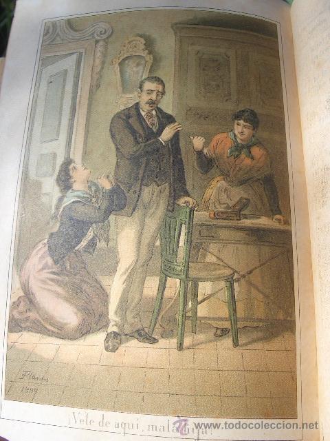 Libros antiguos: ÁLVARO CARRILLO: MÁRTIR CRIMINAL Y ABSUELTA, TOMO I, 1890, 8 CROMOLITOGRAFÍAS DE EUSEBIO PLANAS - Foto 12 - 22322693