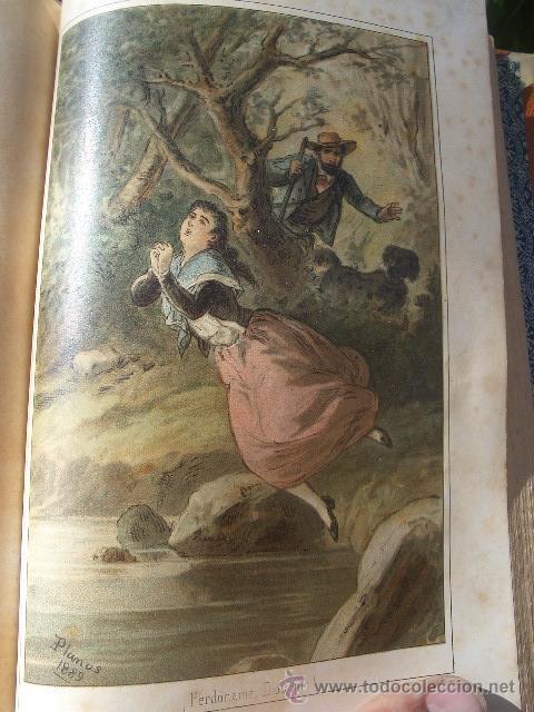 Libros antiguos: ÁLVARO CARRILLO: MÁRTIR CRIMINAL Y ABSUELTA, TOMO I, 1890, 8 CROMOLITOGRAFÍAS DE EUSEBIO PLANAS - Foto 13 - 22322693