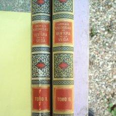 Libros antiguos: OBRAS ESCOGIDAS DE VENTURA VEGA PRIMERA EDICION 1894 , MONTANER Y SIMON- OBRA EN 2 TOMOS. Lote 23617852