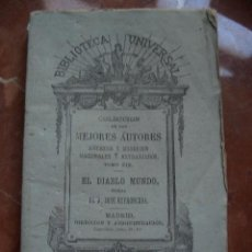 Libros antiguos: ESPRONCEDA. EL DIABLO MUNDO. 1875.. Lote 22388152