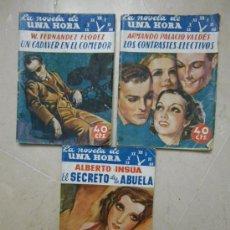 Libros antiguos: LA NOVELA DE UNA HORA Nº 1, 2 Y 7. 1936.. Lote 29575178