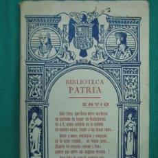 Libros antiguos: NOVELA ROMANTICA , AVENTURAS, SUSPENSE Y TEATRO. Lote 30166827