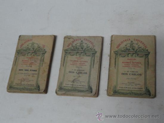 COLECCIÓN BIBLIOTECA UNIVERSAL. AÑO 1908. (Libros antiguos (hasta 1936), raros y curiosos - Literatura - Narrativa - Novela Romántica)
