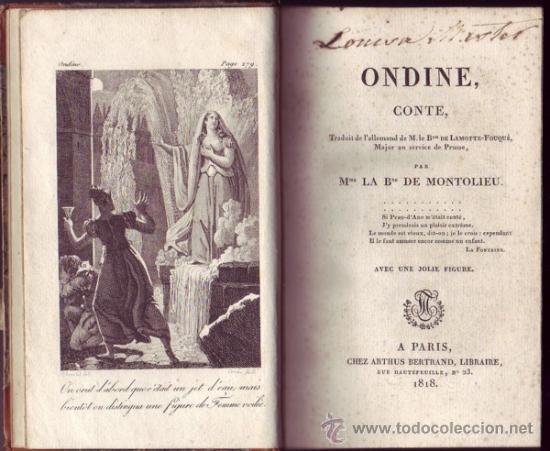 ONDINE, CONTE. M. LE B[AR]ON DE LAMOTTE-FOUQUÉ. (Libros antiguos (hasta 1936), raros y curiosos - Literatura - Narrativa - Novela Romántica)
