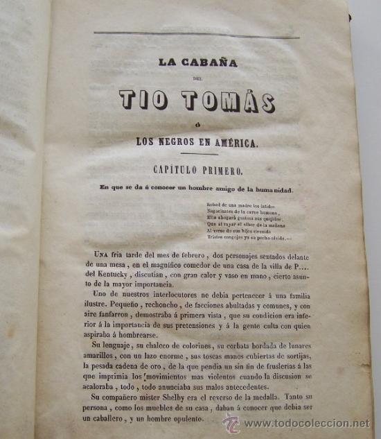 Libros antiguos: Barcelona 1853 LA CABAÑA DEL TIO TOMAS o Los negros en America * ESCLAVITUD temprana edición - Foto 4 - 34386408