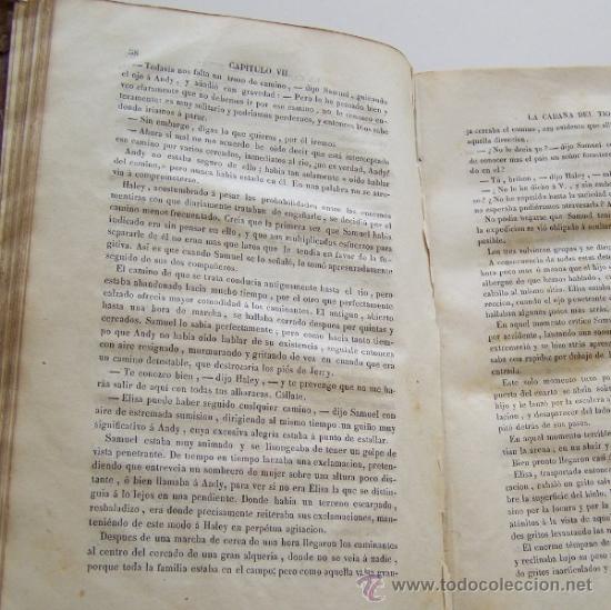 Libros antiguos: Barcelona 1853 LA CABAÑA DEL TIO TOMAS o Los negros en America * ESCLAVITUD temprana edición - Foto 7 - 34386408