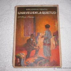 Libri antichi: UNA VEU EN LA QUIETUD J.M. FOLCH I TORRES. Lote 39419732