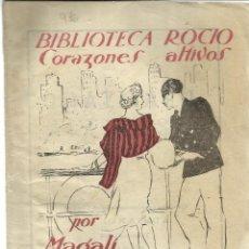 Libros antiguos: CORAZONES ALTIVOS. MAGALÍ. EDICIONES BETIS. SEVILLA. MUY ANTIGUO. Lote 39630638