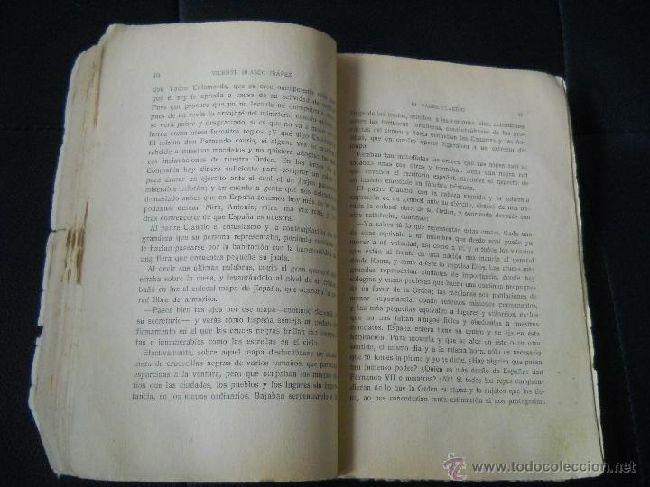 Libros antiguos: LA NOVELA EMOCIONANTE : EL PADRE CLAUDIO Nº 2 ( VICENTE BLASCO IBAÑEZ ) EDITORIAL COLON - AÑOS 30 - Foto 4 - 39750561