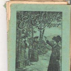 Libros antiguos: 1 CUADERNILLO PRINCIPIO DE 1900 - EL TRIBUNAL DEL AMOR - A. CONTRERAS - CUADERNOS 43 Y 44 - 2 REALES. Lote 39784090