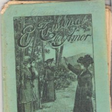 Libros antiguos: 1 CUADERNILLO PRINCIPIO DE 1900 - EL TRIBUNAL DEL AMOR - A. CONTRERAS - CUADERNOS 77 Y 78 - 2 REALES. Lote 39786836