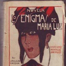Libros antiguos: AGUILAR CATENA, JUAN: LOS ENIGMAS DE MARIA LUZ (CONFESIONES ÍNTIMAS DE UNA MUJER). DEDICATORIA AUT.. Lote 39840830