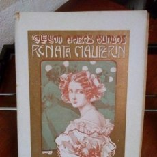 Libros antiguos: E. DE GONCOURT. RENATA MAUPERIN. 1908. Lote 39931406