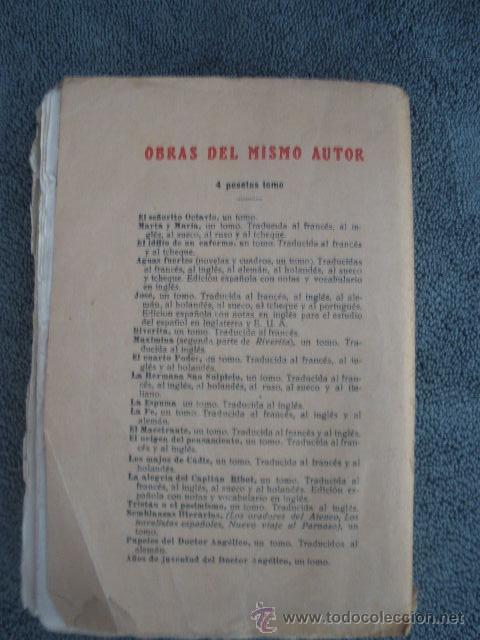 Libros antiguos: TOMO III OBRAS COMPLETAS- EL SEÑORITO OCTAVIO. POR ARMANDO PALACIOS VALDÉS 1921. - Foto 2 - 41284015