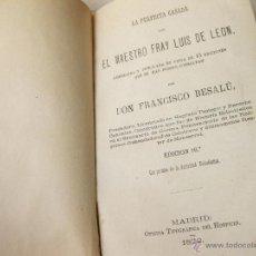 Libros antiguos: LA PERFECTA CASADA. FRAY LUIS DE LEON. 16 EDICION DE 1872. OFICINA TIPOGRAFICA DEL OSPICIO. Lote 41315670