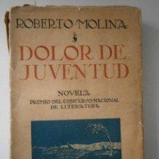 Libros antiguos: DOLOR DE JUVENTUD ROBERTO MOLINA PUEYO 1924. Lote 41373610