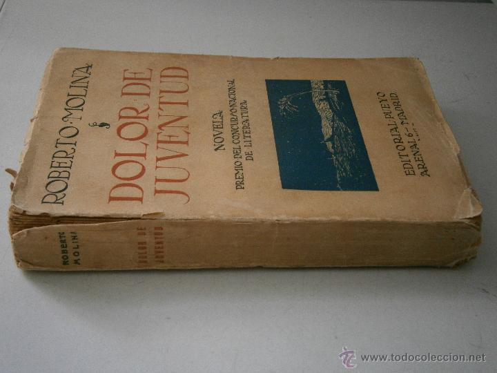 Libros antiguos: DOLOR DE JUVENTUD ROBERTO MOLINA PUEYO 1924 - Foto 2 - 41373610