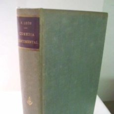 Libros antiguos: COMEDIA SENTIMENTAL. LEÓN, RICARDO. 1917. Lote 41612760