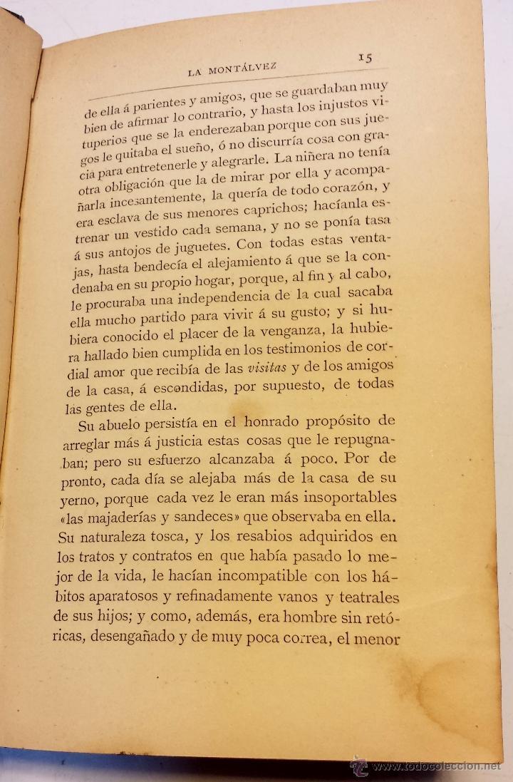 Libros antiguos: LA MONTALVEZ, POR DON JOSE MARIA DE PEREDA. IMPRENTA Y FUNDICION DE M.TELLO. AÑO 1888 - Foto 3 - 42585923