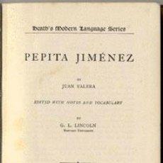 Libros antiguos: PEPITA JIMÉNEZ - JUAN VALERA - AÑO 1908 . Lote 42612006