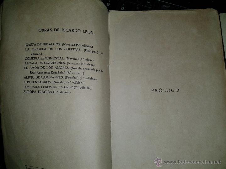 Libros antiguos: El Amor de los Amores de Ricardo León-1917-Renacimiento- Librería Lugo - Foto 8 - 38996512