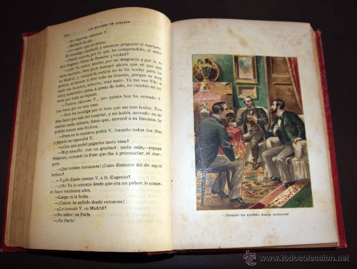 Libros antiguos: LAS MUJERES DE CORAZÓN TOMO 1 Y 2 . ALVARO CARRILLO. RAMON MOLINAS EDITOR - Foto 6 - 43292652