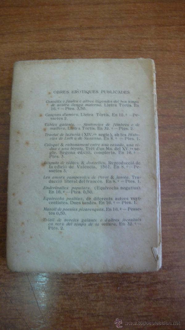 Libros antiguos: TRIALL DE NOVELES GALANTS E DALGUNES JOCOSITATS... 1910. EDICIÓ 50 EXEMPLARS EN PAPER DE FIL. - Foto 3 - 44069735