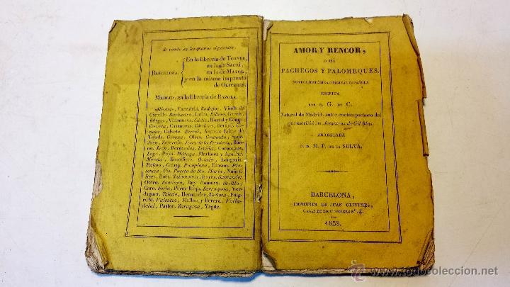 Libros antiguos: AMOR Y RENCOR O SEA PACHECOS Y PALOMEQUES. POR GONZALO DE CESPEDES Y MENESES.AÑO 1833.VER - Foto 2 - 44236916