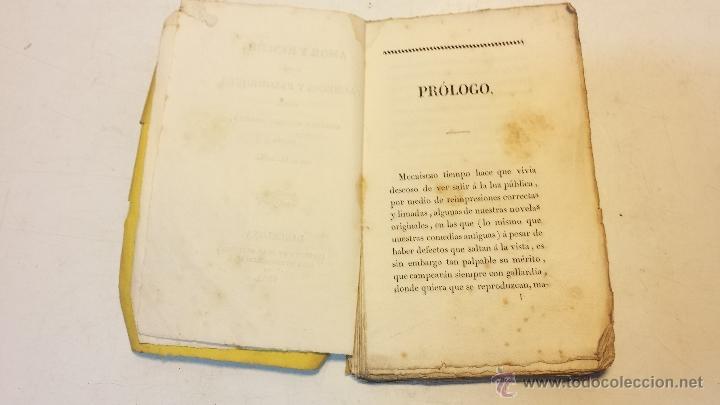 Libros antiguos: AMOR Y RENCOR O SEA PACHECOS Y PALOMEQUES. POR GONZALO DE CESPEDES Y MENESES.AÑO 1833.VER - Foto 3 - 44236916