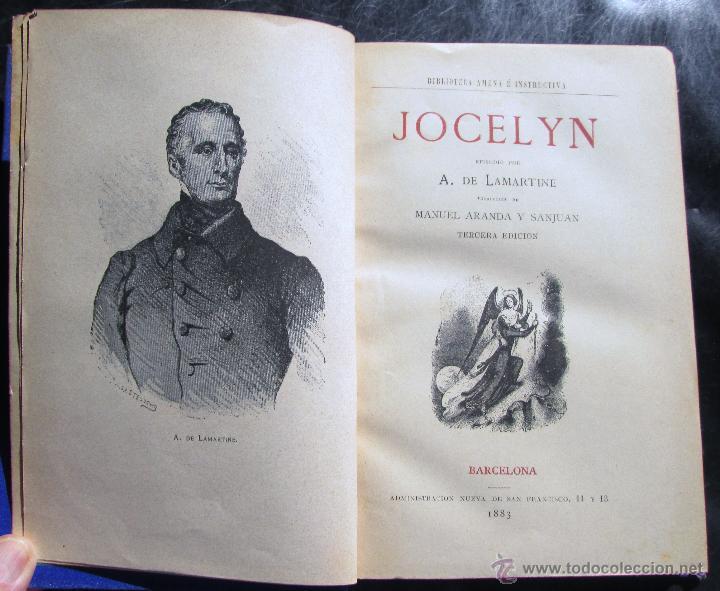 Libros antiguos: JOCELIN: EPISODIO - LAMARTINE - Foto 2 - 45180470