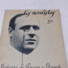 Libros antiguos: ANTONIO DE HOYOS Y VINENT: EL CASTIGO DEL REY MIDAS. LOS NOVELISTAS Nº 7.1928. STRACIONES DE MEL.. Lote 46445299