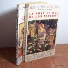 Libros antiguos: LOTE DE 2 LA NOVELA ROSA (Nº 3O DEL 15 DE MARZO DE 1925 Y LA Nº 95 DEL 1 DE NOV. DEL 1927). Lote 46480606