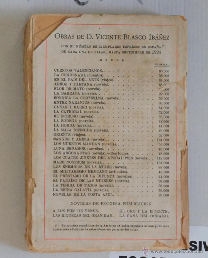 Libros antiguos: LUNA BENAMOR V.BLASCO IBAÑEZ 48000 EJ. ED.PROMETEO VALENCIA AÑO 1924 - Foto 3 - 47350769